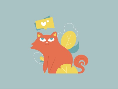 All you need is love and a cat cat vector character illustration