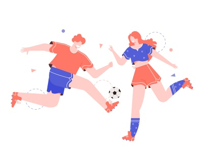 Soccer players vector illustration sport character soccer