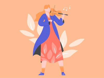 Violinist music violinist character illustration