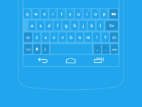 Nexus 5 Wireframe keyboard