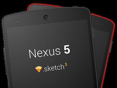 Nexus 5 Sketch 3 Template (Free download) sketchapp sketch 3 nexus 5 vector .sketch free freebie
