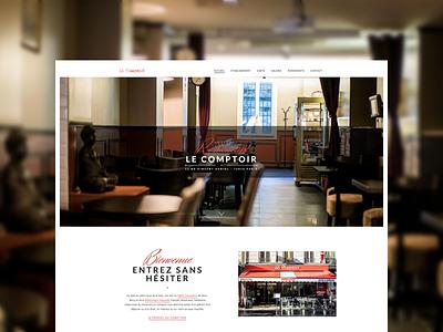 Restaurant Le Comptoir website restaurant paris food photography webdesign design webdesigner designer wordpress