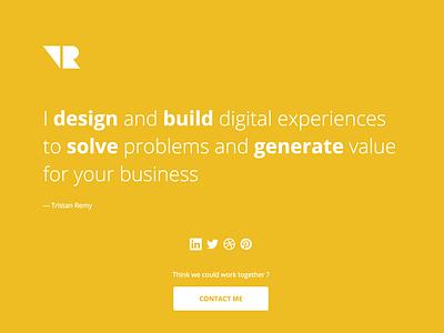 New personal page tristanremy.com job website css html webdesign freelance