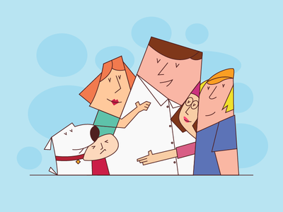 Family Guy drawing illustrator graphic flat concept illustration design abstract character art 2d vector