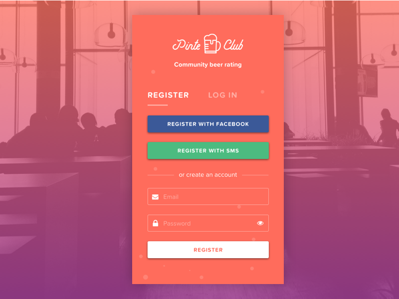 Daily UI #001 | Sign Up mobile app beer register sign up dailyui