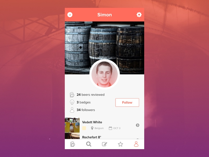 006   user profile  dribbble