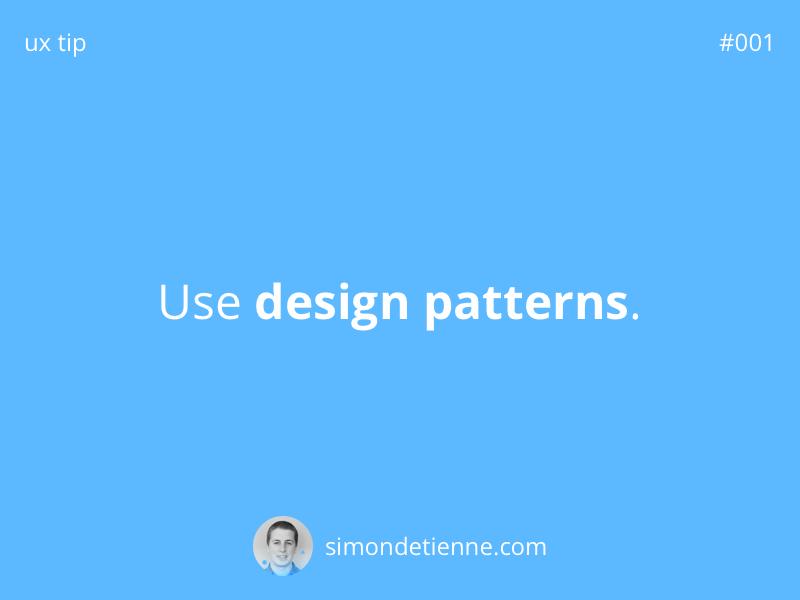 UX Tip #001 tips design ux