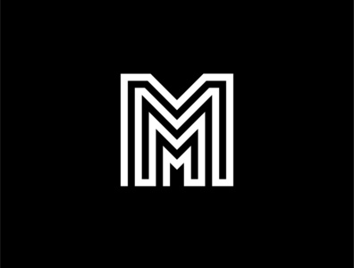 M Logo Design with Grids