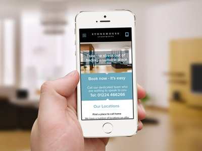 Apartment rental responsive design