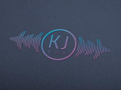 KJ Vox logo render logo design logo brand identity graphic design embroidered clothing vibrant purple blue