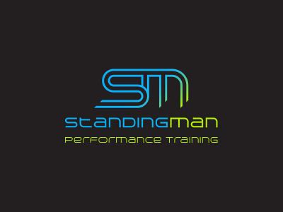 StandingMan Performance Training - Full logo performance fitness sport branding logo design
