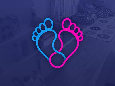 Next Steps Day Care logomark graphic design kids children day care nursery logo mark branding design logo design