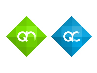 Qwilt - QN and QC product logos technology graphic design product design logo design