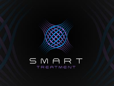 SMART Treatment logo muscle treatment sports massage logo design branding logo