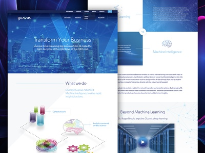 Guavus redesign machine learning artificial intelligence technology isometric illustration graphic design web design