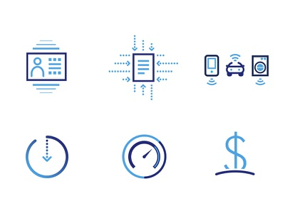 Guavus Icons gradient vector svg illustration symbols graphic design icon design icons