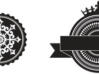 Opulent badge shape