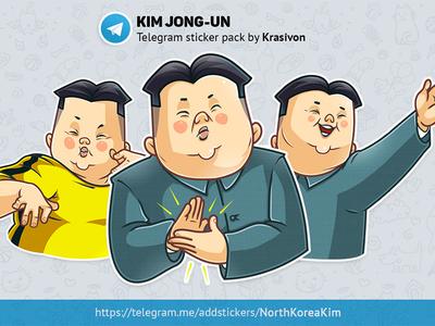 Stickers : Kim Jong-un kim jong-un caricature stickers korea north korea