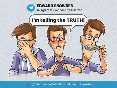 Stickers : Edward Snowden stickers sticker caricature edward snowden snowden