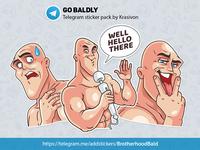 Stickers : Go Baldly
