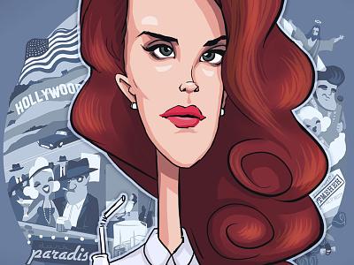 Lana Del Rey coca-cola caricature lana del rey