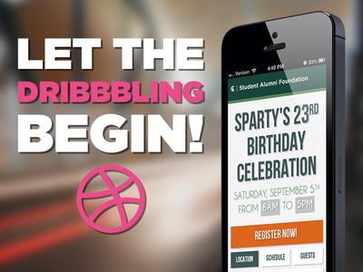 Let the Dribbbling Begin! debut mobile web app msu sparty