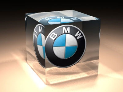BMW Glass Paper weight caustic lighting render 3d
