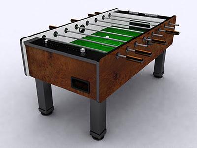 3D Fooseball Table render 3d