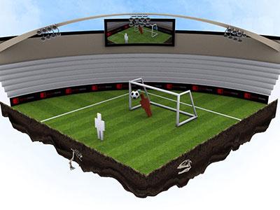 3D Soccer Flash Game flash render 3d