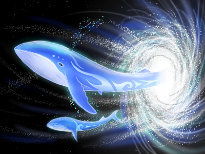 Draft stars galaxy space whale