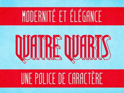 Quatre Quarts - free font