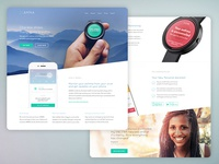 Asthma Wearable Landing Page