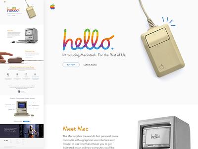 Throwback 1984 Macintosh Landing Page landing page steve jobs throwback lp apple macproject macwrite macpaint 1984 macintosh mac retro