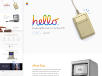 Throwback 1984 Macintosh Landing Page