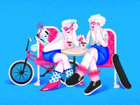 wrinkly skatergirls