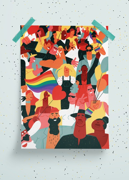 Baltic Pride pride month editorial latvia city society characters poster diversity lgbt pride