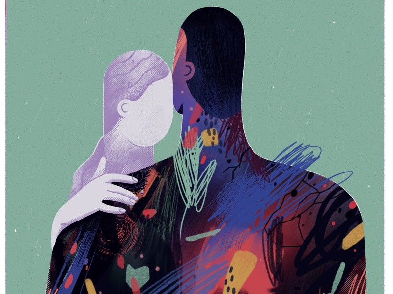 growing in pain characters illustration deppression relationships love abstract adobephotoshop mentalhealth editorial