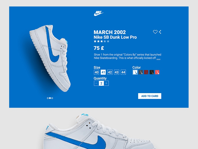 Nike Product Card web ux ui minimalism minimal flat clean productcard card product nike