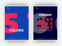 Posters - Colors & content-