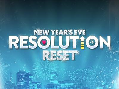 New Year's Eve - Resolution Reset facebook app creative direction design brass html5