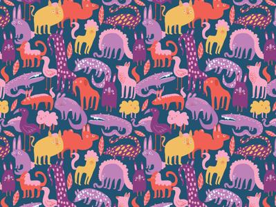 Zoo keeper - Animal pattern design animal pattern design surface pattern design pattern design vector illustration adobe draw illustration