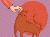 Petting the cat