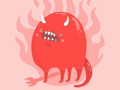 Burn In Hell, Please drawing devil horns devils devil vector illustration adobe draw illustration