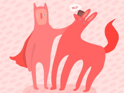 Hallo? animal drawing cute vector adobe illustrator illustrator drawing vector illustration adobe draw illustration