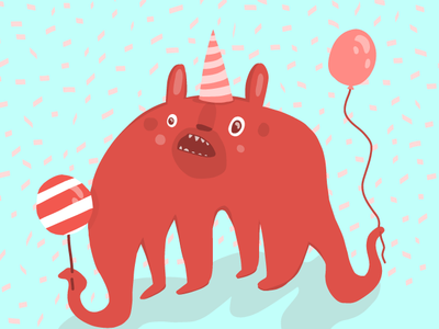 Party animal party animal party pattern vector illustrator cute drawing vector illustration adobe draw illustration