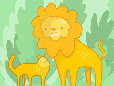 Cute Cuddly Lions cat ipad pro animal drawing adobe illustrator drawing cute vector illustration adobe draw illustration