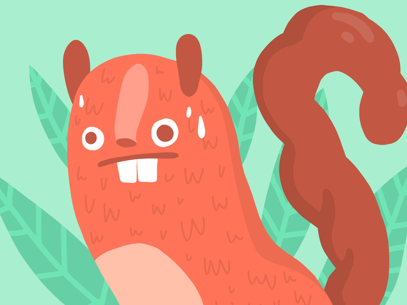 Sweaty Squirrel animal drawing vector illustration drawing sketch animals animal squirrel adobe draw illustration