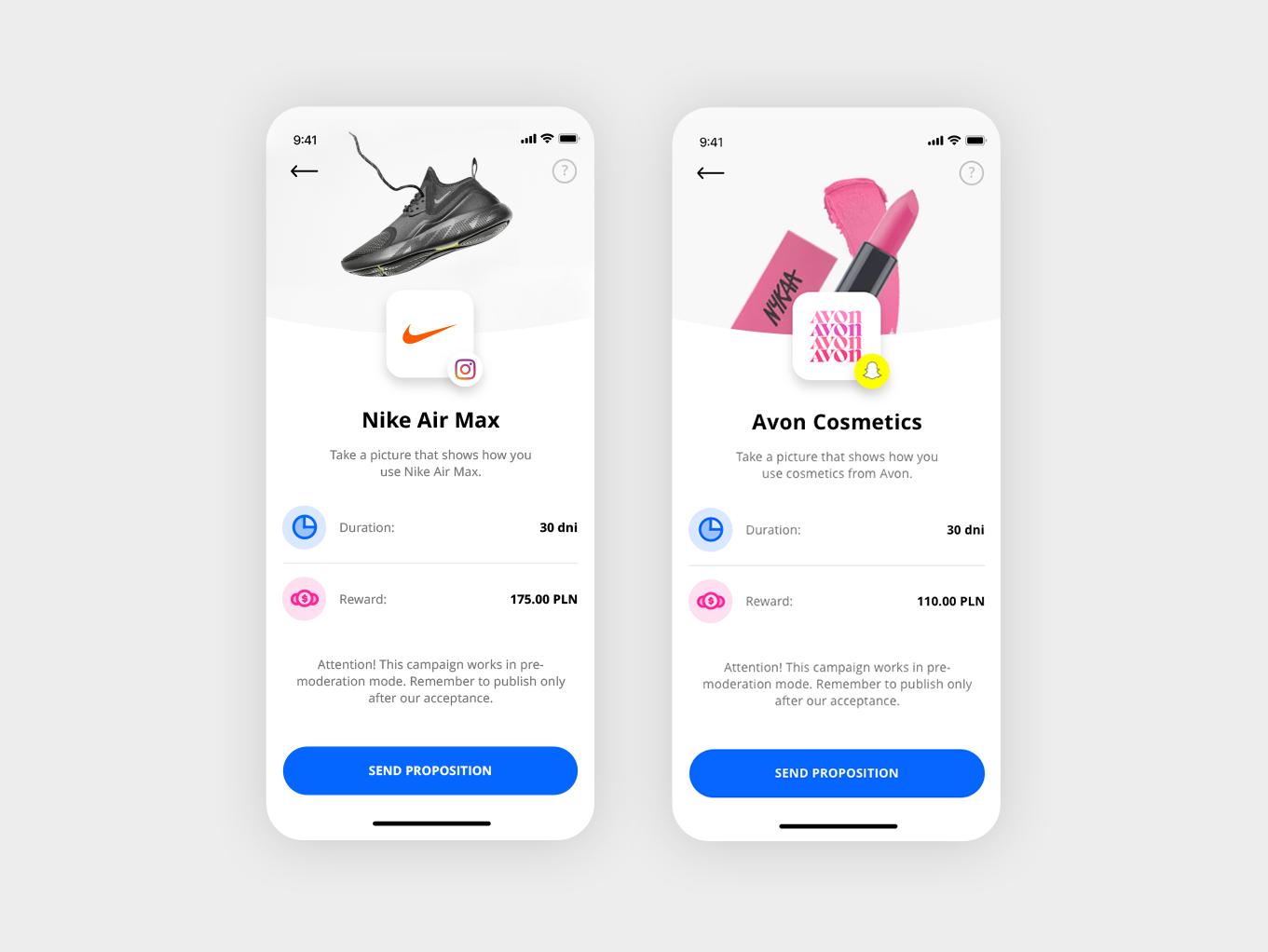 Influencer App ui kit task follower experience interface social app detail estate oj ios profile applicaiton icon influencer design app ux typography ui