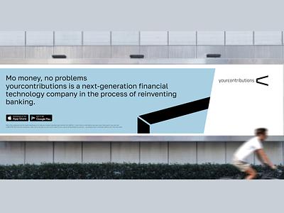 Yourcontributions advertising app typography illustration logo branding advertising ios ui