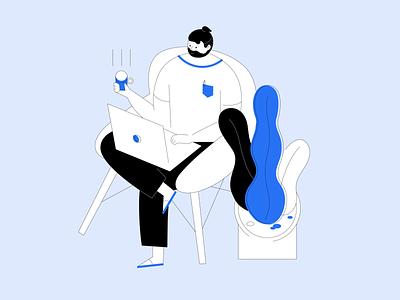 Иллюстрации для Впроекте illustration branding flat design ux ui